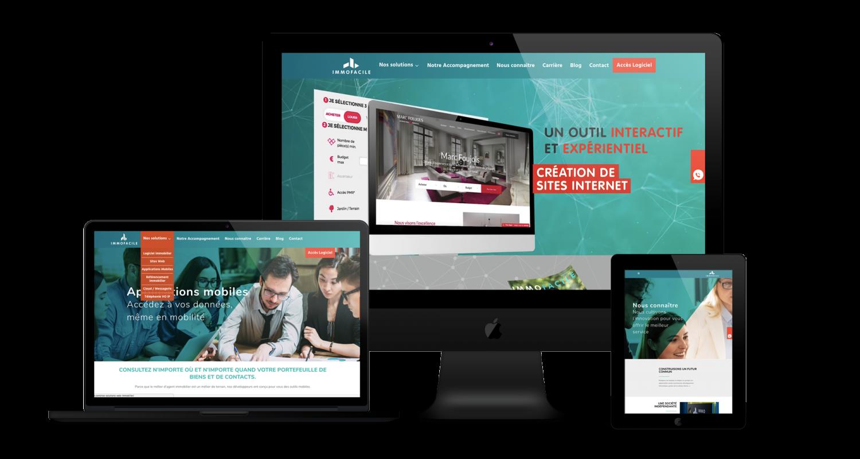 Création site web ImmoFacile Liège