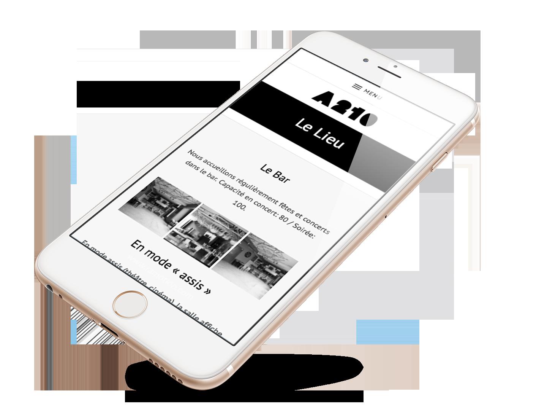 Création site web Mobile Atelier 210 Liège
