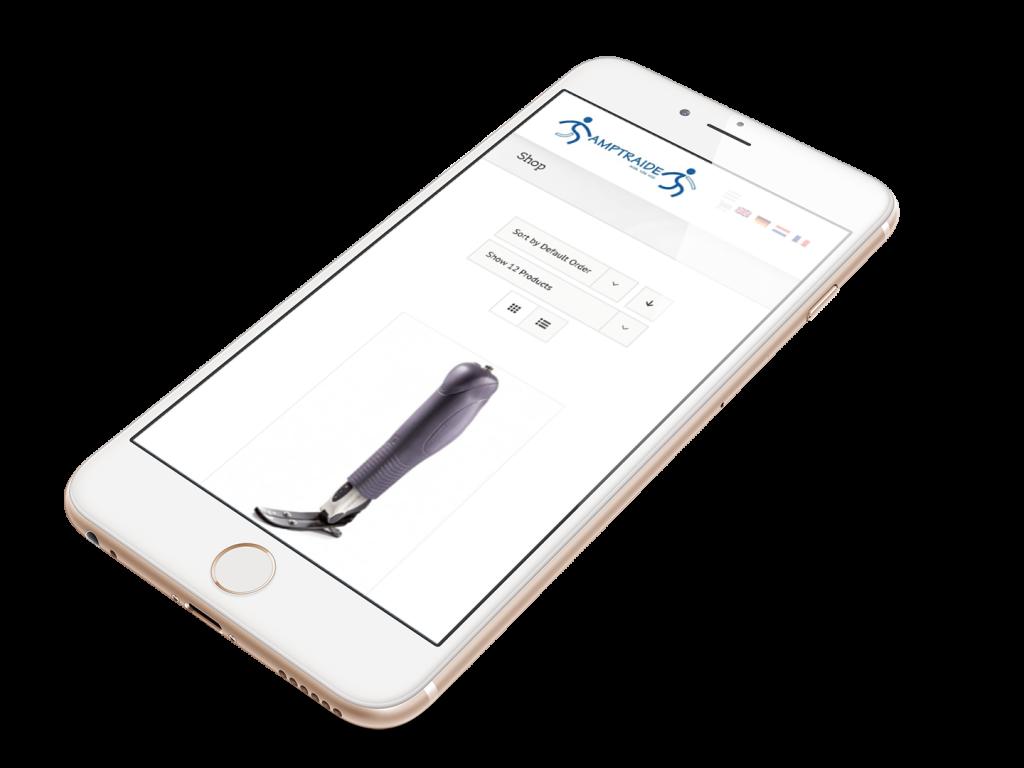 Création site web Mobile Amptraide Liège