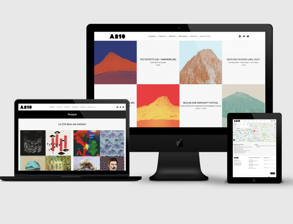 Création site web Atelier 210