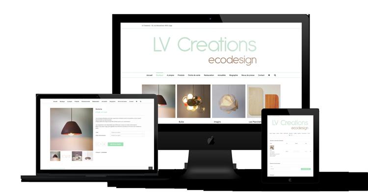 Création e-commerce de LV Creations