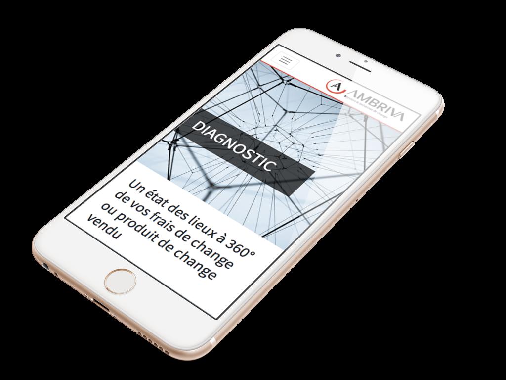 Optimisation site web iphone Ambriva