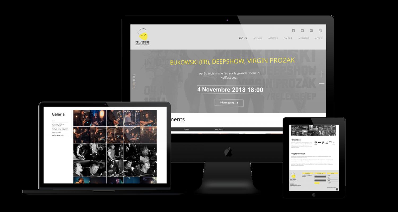 Création site web Belvédère Namur Liège