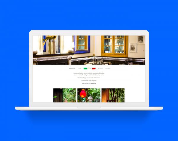 creation site web liège portfolio pizzeria ciao