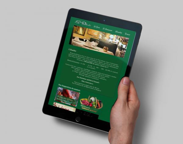 creation site web liège portfolio brasserie l ecailler