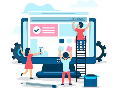 différentes étapes dans la création d'un site Web petite