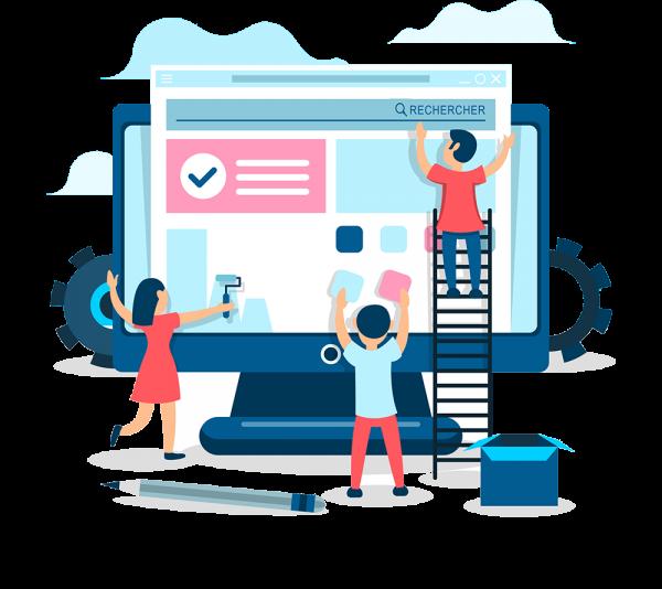 différentes étapes dans la création d'un site Web