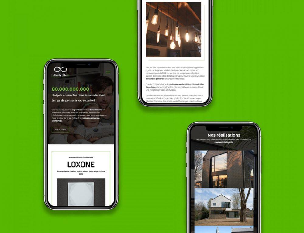 Création site web vitrine Infinity Elec