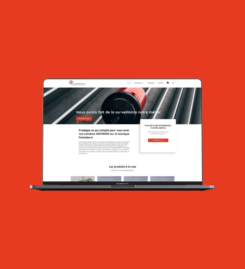 page web PointAlarm