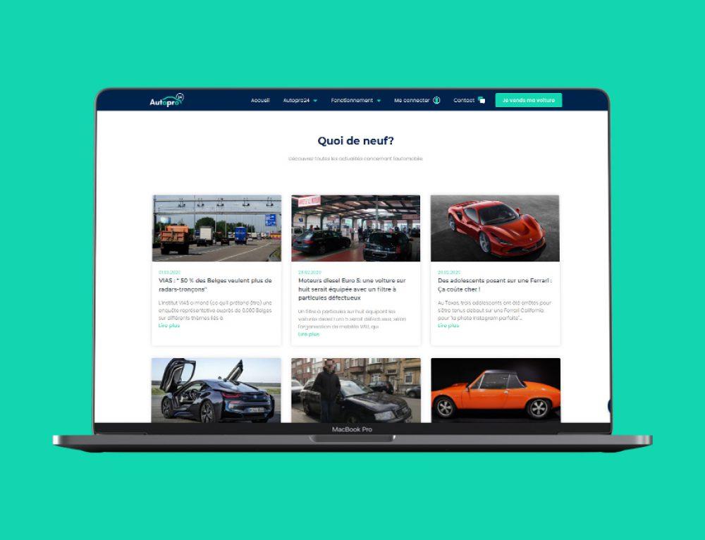 Création site web vitrine Autopro24