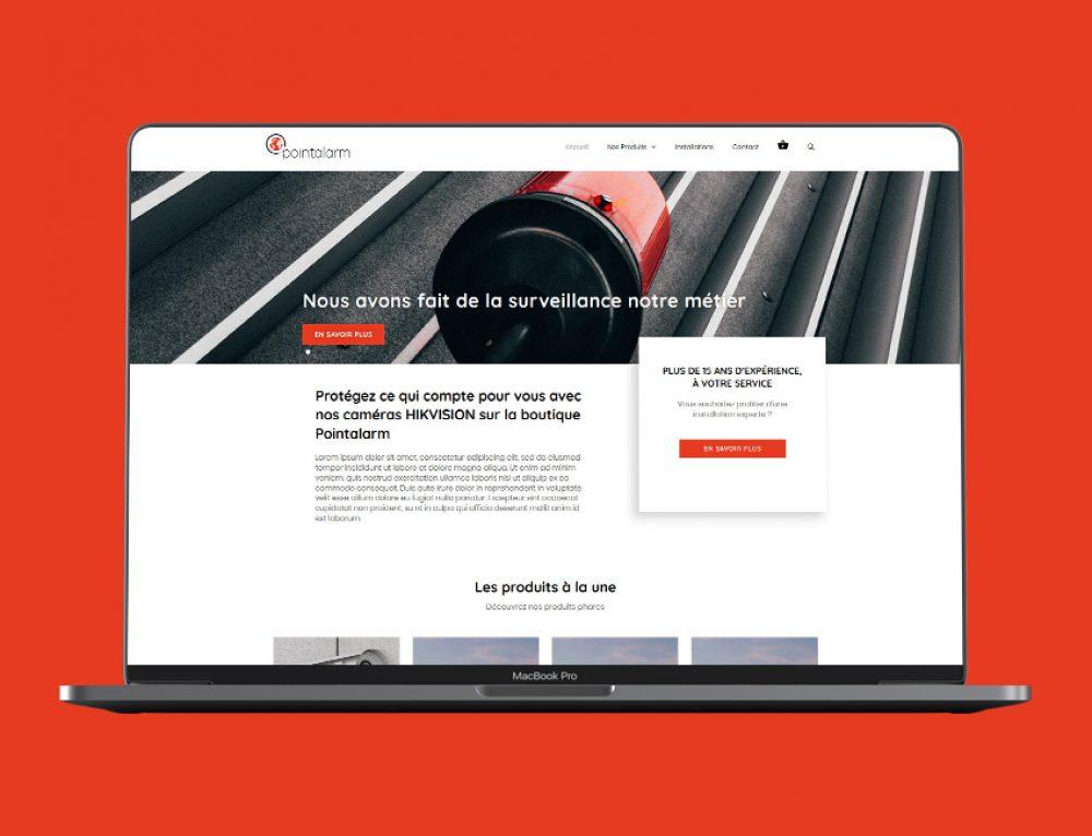 Création e-commerce PointAlarm